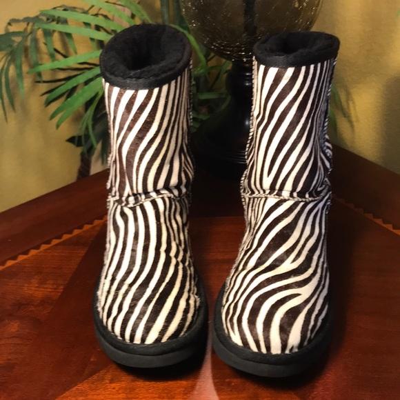 52f63acd375 UGG Classic Short Exotic Zebra Boots
